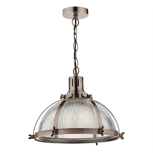 Debut 1 Light Pendant Brushed Antique Copper (Class 2 Double Insulated) BXDEB0164-17